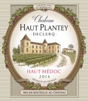 Château Haut Plantey Declerq Haut Médoc Label